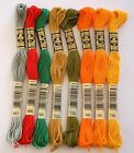 DMC EMBROIDERY THREADS - STRANDED COTTONS CHOICE 647 666 700 729 732 740 741 742