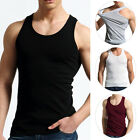 2017 New Fashion Men's Close-fitting Vest Fitness Elastic Casual O-neck