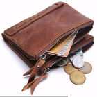 male coin purse - Men's Bifold Leather Credit Card Holder Coin Pocket Wallet Zipper Purse Billfold