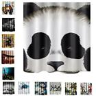 Fabric Bathroom Shower Curtain Liner- 180x180cm- Panel Curtain Animals Gift