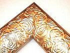"""2.3"""" Aged Metallic Gold Rose Ornate Wood Canvas Picture Frame-Custom Panoramic"""