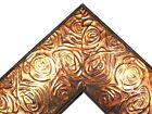 """2.3"""" Aged Copper Rose Ornate Wood Canvas Frame Picture Frame-Custom Panoramic"""