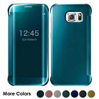 Luxury Mirror Smart Clear Flip Hybrid Case Cover For Samsung Galaxy S7 Edge S8