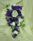 WEDDING FLOWERS  BRIDAL BOUQUET  ROSES --MANY COLOURS DJO5