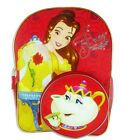 "PRINCESS BELLE BEAUTY 16"" Full-Size Backpack w/ Optional Insulated Lunch Box NWT"