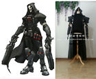 Halloween Overwatch Reaper Cosplay Fancy Dress Cloak Coat