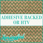 Burlap Jute Pattern w/ Green Chevron Adhesive Vinyl or HTV for Crafts or Shirts