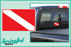 Basic Rectangle DIVE Flag #1 Vinyl Decal Car Truck Sticker SCUBA Diving Decal