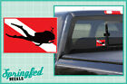 DIVE Flag w/ Dive Girl Silhouette Vinyl Decal Car Truck Sticker SCUBA Diving