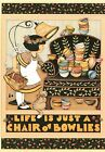 Mary Engelbreit-LIFE IS JUST A CHAIR OF BOWLIES-Paperworks Blank Card-NEW!