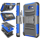 Armor Shockproof Refined Impact Phone Skin + Belt Clip Holster Stand Cover Case