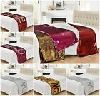 Glamorous Decorative Two Tone Mermaid Bed Throw Blanket 65x200cm Red Silver Pink