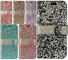 For LG X Charge Premium Bling Diamond Wallet Case Flip Pouch Phone Cover