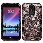 For LG Harmony IMPACT TUFF HYBRID Protector Case Skin Phone Cover +Screen Guard