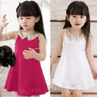 Kids Toddler Girls Princess Wedding Dress Party Flower Lace Clothing 01
