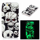 Rubber Fluorescence Case Soft TPU Cute Protective Cover For Apple iPhone 5/5S/SE