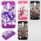 LG Grace LTE Tuff Trooper HYBRID TPU Hard Case Skin Phone Cover +Screen Guard