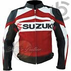 BEST DESIGN SUZUKI GSX RED Leather Motorcycle Racing Motorbike Biker Jacket COAT