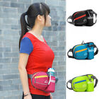 Sports Runing Cycling Waist Bum Bag Fanny Pack With Bottle Holder Multi Pockets