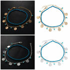 Sale Women Fashion Gold/Silver Acrylic Beads Blue/Green Turquoise Anklet