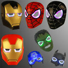Children Hulk Batman Spiderman Captain America Ironman Halloween Party LED Mask