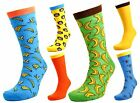 Tom Franks Mens Monkey & Bananas Character Socks 7-11