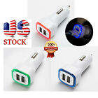 2.1A LED USB Dual 2 Port Adapter Socket Car Charger Charging For iPhone/Samsung