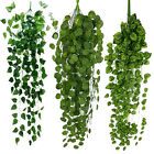 Artificial Fake Hanging Vine Plant Leaves Garland Home Garden Wall Green Decor