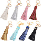 Womens Leather Tassels Keychain Purse Bag Buckle HandBag Pendant Keyring Jewelry