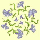 Anemone Quilt Squares 4-DESIGN 9-An Anemone Machine Embroidery Single In 4 Sizes
