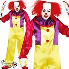 Adults Mens Circus Killer Evil Clown Horror Halloween Fancy Dress Costume Outfit