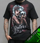 Sullen Pin Up Punk Street Gothic Bike Rockabilly Tattoo Mens Tee MOURNING GLORY