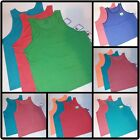Lot of 2 or 3 Fruit of the Loom Mens Tank Top Blue Green Red Sleeveless NEW
