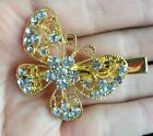 New Crystal gold silver Butterfly Rhinestone Hair Women Hair Clip Hairpin Clamps