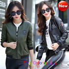 new spring and autumn leather coat women short paragraph Slim pu-leather jacket