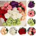 9 Head Rose Artificial Flowers For Wedding Party Home Design Bouquet Decoration