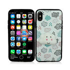 For Apple iPhone X XS Marshmallow TPU CANDY Gel Flexi Skin Cover + Screen Guard