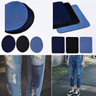 1PC Denim Jeans Elbow Knee Patches Repair Decorative Iron-On Sewing Square Oval