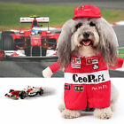 F1 Racing Pet Dog Cat Clothes Puppy Apparel Suit Red Pants Coat with Hat