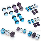 Natural Gemstone Stick Taper Tunnel Saddle Flesh Expander Ear stretcher Plug Kit
