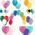 "Assorted Latex Balloons 12"" Helium Quality with 50m of Curling Ribbon"