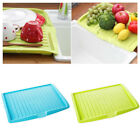 Plastic Compartment Drain Tray Fruit Vegetable Dish Draining Plate Storage Rack