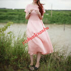 Women Embroidery Short Sleeve A Line Dress Chinese Style Cotton Linen Long Dress