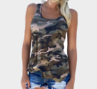 Camouflage T-shirt fashion sleeveless vest casual sexy tank tops Asian S~5XL