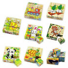 NEW 3D Animals Puzzle Blocks Cube Jigsaw Baby Kids Education Learning Toy Glitzy