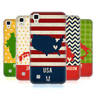 HEAD CASE DESIGNS PRINTED COUNTRY MAPS HARD BACK CASE FOR LG PHONES 2
