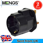 MENGS EU UK Mains Travel Plug Adapter With ABS + Copper-Black