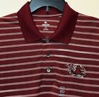 New South Carolina Gamecocks Men's Polo Dress Shirt Red Stripes Embroidery Logo