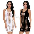 Fashion Womens Sexy Hollow Out Bodycon Cocktail Party Club Wear Short Mini Dress