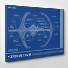 Station DS-9 Blueprint - Framed Canvas Art Print - Star Trek Deep Space Nine on eBay